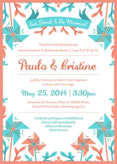 Wedding Invite for Paolo & Cristine on Behance