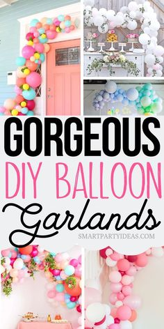 Gorgeous Dollar Store DIY Balloon Garland Ideas Balloon garlands make the perfect focal point for any themed party. Easy to make with materials from your local dollar store balloon garlands are guaranteed to set the tone for an awesome party. Diy Party Decorations, Balloon Decorations, Birthday Decorations, Party Themes, Ideas Party, Diy Party Signs, Diy Party Garland, Graduation Decorations, Event Ideas