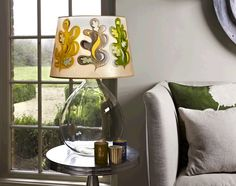 Hand-Painted Lamp Shade: Oak Leaf
