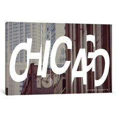 "Mercury Row Chicago (41.8° N, 87.6° W) Graphic Art on Wrapped Canvas Size: 26"" H x 40"" W x 0.75"" D"