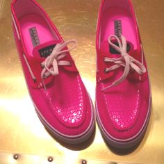 Hot Pink Sperry Topsiders!<3