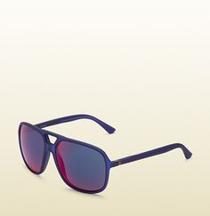 Gucci - injected aviator sunglasses $295