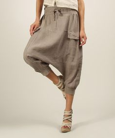 Another great find on #zulily! Mole Noemie Linen Harem Pants #zulilyfinds