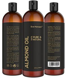 16oz SWEET ALMOND OIL  100 Pure  Natural Moisturizer from Head to Toe  Best Carrier Oil  SEE RESULTS OR MONEYBACK  Works wonders for your hair scalp face body and feet Perfect for massage * For more information, visit image link.