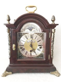 Ends shortly on eBay this Mint Warmink Westminster Chime Bracket Shelf Clock Night Switch Moon Dial