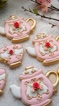 Mother's Day Cookies, Summer Cookies, Cookies For Kids, Iced Cookies, Cut Out Cookies, Cookies Et Biscuits, Cake Decorating Tips, Cookie Decorating, Teacup Cookies
