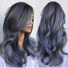 Smokey Grey awesome by @kimwasabi using @kenraprofessional #hairdressermagic