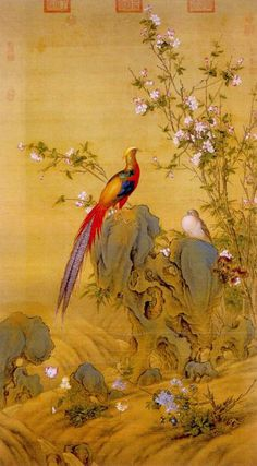 A painting by Giuseppe Castiglione / 郎世宁 (Lang Shining - 1688 - 1766 AD), Qing Dynasty.