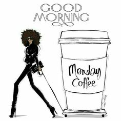 Monday Coffee. Looks like the right size. Illustration by Megan Hess.