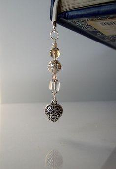 True Love Beaded Bookmark for Bridal Party by VitezArtGlassDesign,