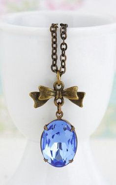 Blue Jewelry Sapphire Blue Jewel Necklace
