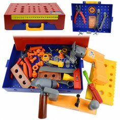 $6.43 Baby Children Play Toys Educational Toolkit Suitcase Simulation Engineer Tools Work Set