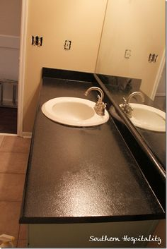 Transform an old laminate countertop with Rustoleum countertop transformations kit!