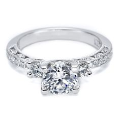 Tacori Classic Crescent HT2259RD Pave Engagement Ring