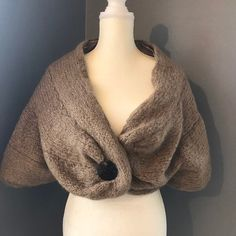 Vintage Beige Mohair Shrug with a Lucite Button Closure. Wedding Wraps, Wedding Bands, Wedding Shrug, 1960s Outfits, Shrug Sweater, Wrap Sweater, Bolero Jacket, Vintage Love, Winter White