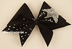 Shooting Star Cheer Bow by MyBowPeeps on Etsy