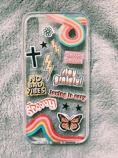 Girly Phone Cases, Iphone Phone Cases, Clear Phone Cases, Phone Diys, Iphone Charger, Iphone Case Covers, Tumblr Phone Case, Aesthetic Phone Case, Accessoires Iphone