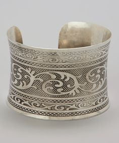 Floral Etched Cuff