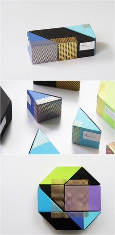 Packaging by using astrobrights paper / by Ken Lo