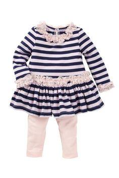 Striped Glitter Legging Set (Baby Girls) by Pippa & Julie on @HauteLook   CUTE!