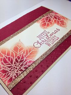 Video Tutorial: Christmas card with the Emboss Resist Technique #joyfulchristmas #stampinup