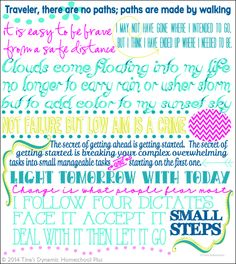 7 Step Homeschool Planner Free Back Cover for your planner with inspirational quotes