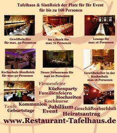 Veranstaltungen im Schürers Restaurant Tafelhaus in Backnang bei Stuttgart von 10 bis max 160 Personen  - Schürers Tafelhaus
