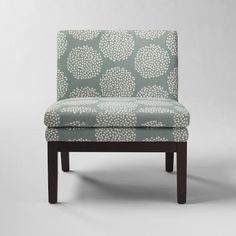 Upholstered Slipper Chair - Blue Stone | west elm