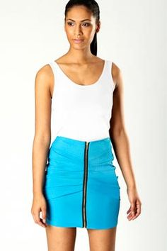 Charlize Body Con Skirt With Zip @ boohoo.com, £15