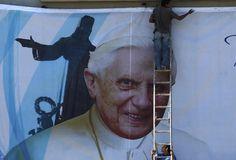 Mexicanos, listos para recibir a Benedicto XVI  ::: Fotogalerías Azteca Noticias::::
