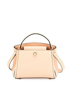 VALEXTRA Triennale Micro Leather Top-Handle Bag, Pink. #valextra #bags #shoulder bags #hand bags #leather #