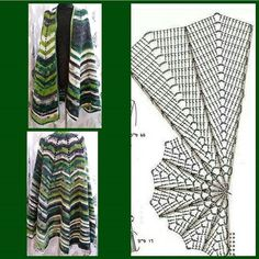 Knitting Patterns Vest Häkle Dir you now a nice vest /// cloth vest in the trendy Zipfel look. Super trendy and simple . Chevron Crochet, Crochet Cape, Black Crochet Dress, Crochet Scarves, Crochet Clothes, Shawl Patterns, Baby Knitting Patterns, Crochet Patterns, Crochet Shawl Diagram