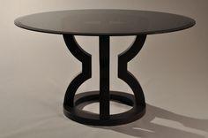 MATTHEW FAIRBANKS DESIGN - Smoke gray glass with dark espresso walnut base