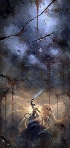 Tyrael of Angiris Council (by http://chaoyuanxu.deviantart.com/) from Diablo III and Diablo II