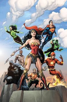 """comicweek: """"Justice League #1 Variant Coverr by Gary Frank"""""""