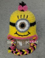 Free Crochet Pattern For Minion Hat With Ear Flaps : MINIONS on Pinterest Crochet Minions, Minion Hats and ...