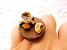 Kawaii Japanese Food Ring Green Tea Miniature by SouZouCreations, $18.50