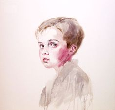 Cherry Hood (Australian) - Not This Time Art Gallery, Watercolor, Contemporary, Cherry, Photography, Galleries, Inspiration, Portraits, Inspire