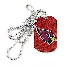 Arizona Cardinals Glitter Dog Tag