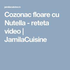 Cozonac floare cu Nutella - reteta video   JamilaCuisine