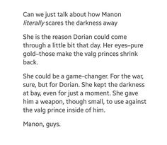 I have a feeling people will ship Dorian and Manon together now...