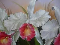 Resultado de imagem para oleo sobre tela orquideas