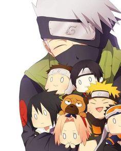 Kakashi and all his precious people ^^