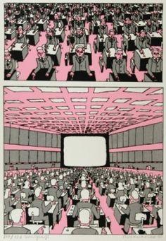 Pushwagner - En dag i familien Manns liv: nr 14 - På plass III James Rosenquist, Claes Oldenburg, Jasper Johns, Andy Warhol, Illustration Art, Illustrations, Cover Design, Pop Art, Norway