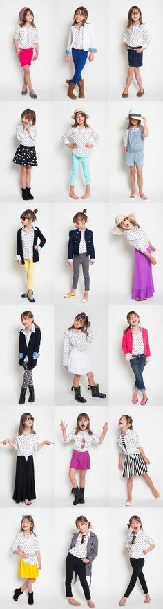 alana's polka dot shirt style project!