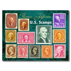 US Stamps - Thomas Jefferson , 3rd US President 1801-1809