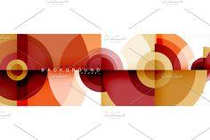 Modern circle background, vector illustration Geometric Patterns, Illustration, Creative, Modern, Trendy Tree, Illustrations