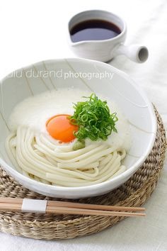 tororo udon...all that's missing is the nori (Tororo is grated raw Japanese yam or Nagaimo over thick udon noodles served with a special dashi soy sauce)