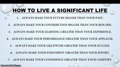 #How To Live A Significant Life