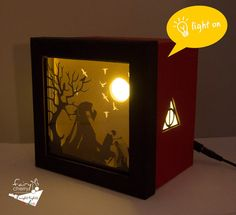 Harry Potter Tale of the Three Brothers shadow box by FairyCherry